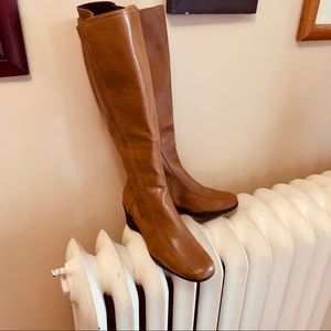 Aerosoles vegan leather knee high wedge boot 7.5